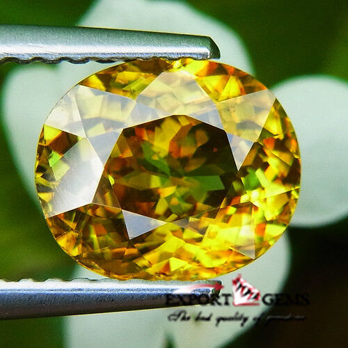 UNHEATED 2.09CT NATURAL YELLOW OVAL SPHENE