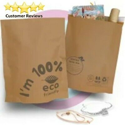 Poly Bag Mailers Biodegradable 1000 2 9 X 12 Brown Eco Friendly Self-seal
