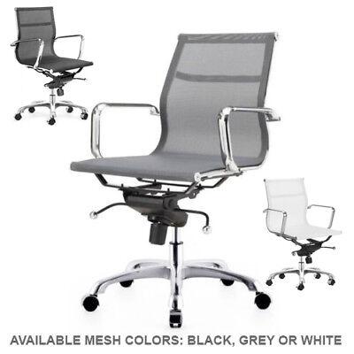 Mesh Management Chair Aluminum Frame Executive Mesh Group Office Chair Modern