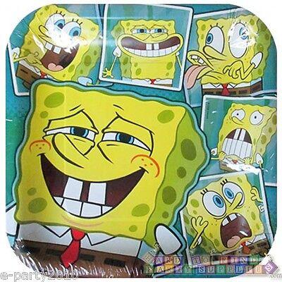 SPONGEBOB SQUAREPANTS Selfies LARGE PAPER PLATES (8) ~ Birthday Party Supplies Spongebob Squarepants Birthday Party Supplies