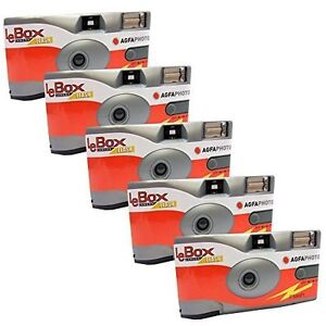 5x Agfa Photo LeBox 400 Disposable Camera with Flash, 135 Exposures