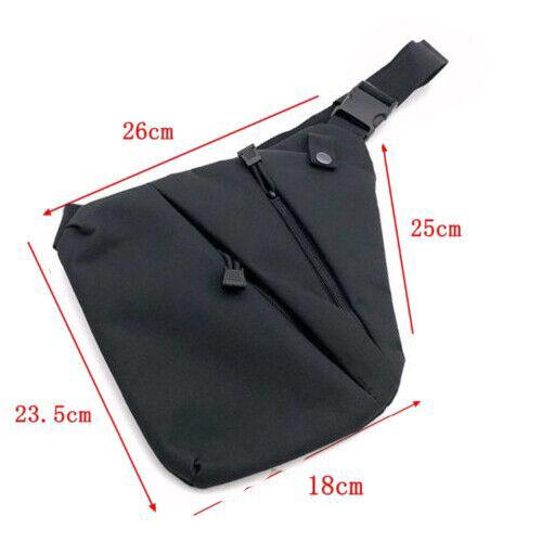 Tactical Chest Sling Bag Antitheft Crossbody Pack Concealed Shoulder Gun Holster