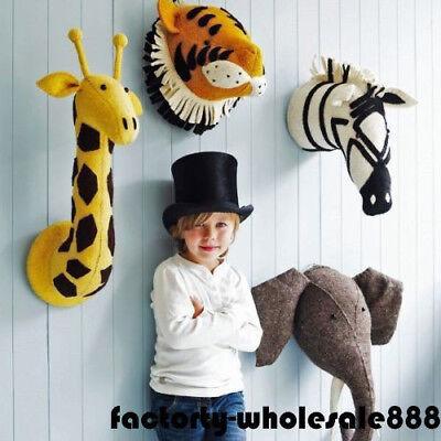 Wall Mount Stuffed Soft Toy Animal Head - Zebra - Elephant - Baby Shower Toys ()