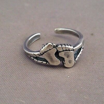 Hang Ten Feet toe ring genuine .925 sterling silver