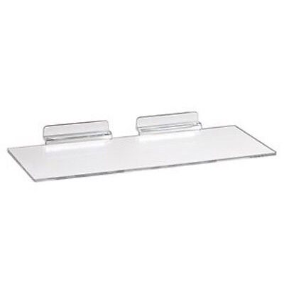 24 Slatwall Shelves Shelf Shoe 4 X 10 Display Flat Styrene Clear Acrylic Slat