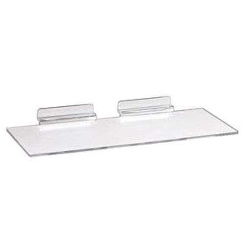 "20 Slatwall Shelves Shelf Shoe 4"" x 10"" Display Flat Styrene Clear Acrylic Slat"