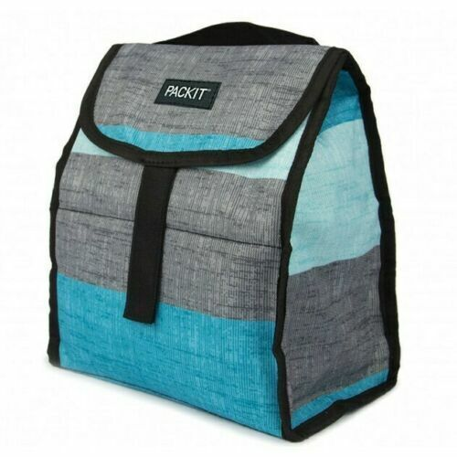 PackIt Freezable Lunch Bag Personal Cooler Grey Cools For Up To 10 Hours Home & Garden