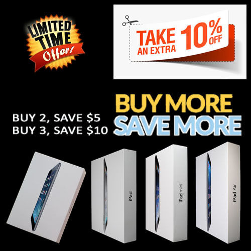 Apple iPad 2,3,4, Air 2, Air, Mini 2, Mini, 16GB,32GB,64GB,128GB Cellular-Tablet