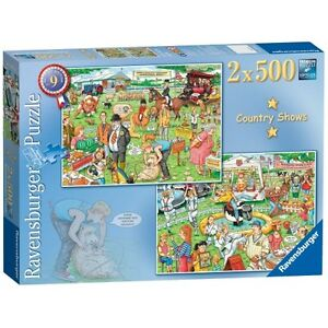 Best Of British The Country Show 2x500 Piece Jigsaw Puzzle Brand New Gift