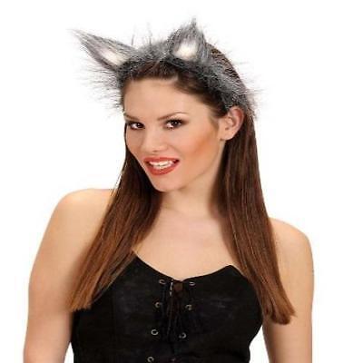 Wolfsohren auf Haarreif Wolf Ohren Fasching Kostüm Wolfskostüm Zubehör (Wolf Kostüm Ohren)