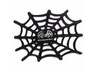 Black Car Accessories Spider Web Non-slip Sheet Mat for cell phone Silicone grip