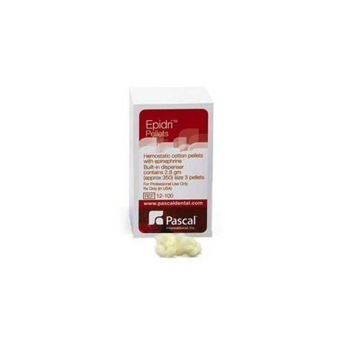 Pascal 12-100 Epidri Cotton Retraction Pellets #3 Epinephrine Yellow 450/Bx