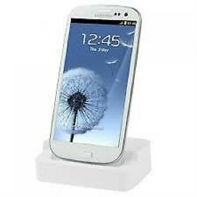 Desktop Charger & Sync Docking Station Cradle for Samsung Galaxy SIII S3 WHITE Desktop Charger Sync