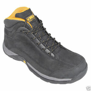 DeWalt Mens Work Boots Lace Up , Black Leather 8.5 Medium