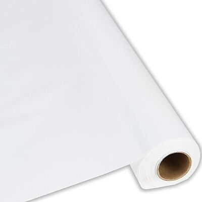 "White Plastic Banquet Tablecloth Cover Roll - 40"" x 300' -"