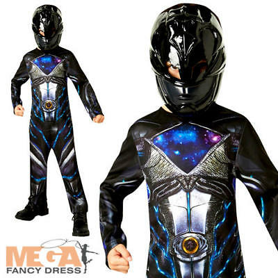 Power Rangers Black Ranger Childs Fancy Dress Superhero Halloween Boys Costume  ()