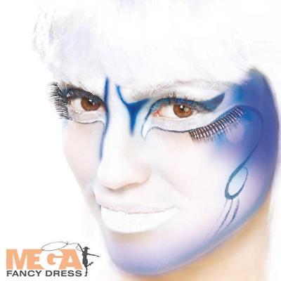Blue Cream Make Up Fancy Dress Halloween Fairytale Kids Adult Costume Face Paint - Halloween Blue Cream Makeup