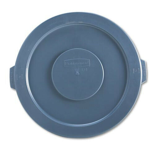 Rubbermaid RCP263100GY Brute 22.25 in. Round Containers Flat Top Lid - Gray New