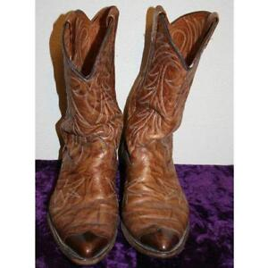 mens used cowboy boots size 14