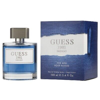 Guess 1981 Indigo by Guess 3.4 oz EDT Cologne for Men New In Box