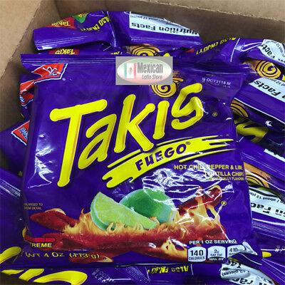 2x Takis Fuego Rolled Corn Tortilla x-tra Hot Chips 4-oz each Bag