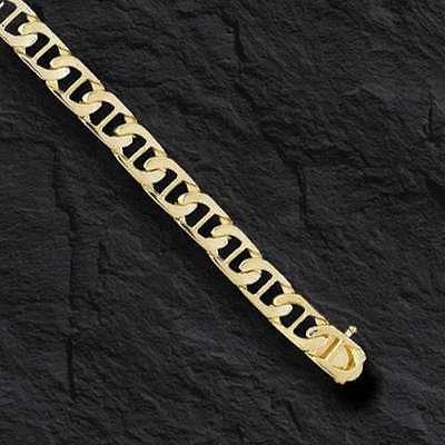 "10k Solid Yellow Gold Handmade Mariner link men's Bracelet 8.5"" 7 MM 14 grams"