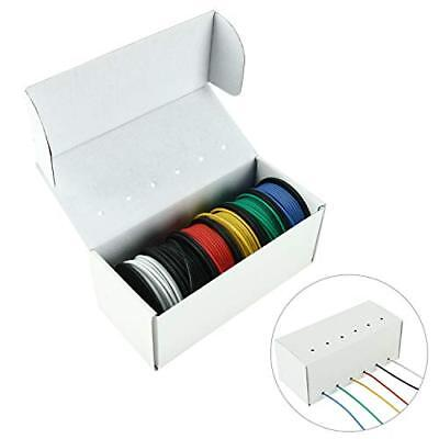 22 Gauge Hook Up Wire Kit 6 Color 25ft Silicone Rubber Insulated Electrical Wire