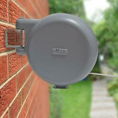 Minky Retractable Reel Washing Line with 15 m of Drying Space, Grey