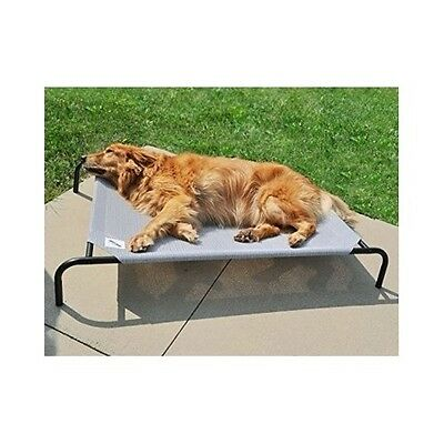 Elevated Dog Bed Indoor Outdoor Pet Cot Knit Fabric Cool Comfort Free Ship New