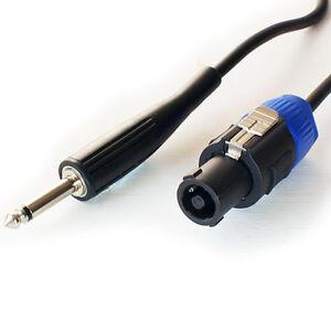 3M-6-35mm-mono-plug-to-Pro-altoparlante-spkon-CAVO-20AWG-Maschio