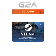 $20 Steam Card - 20 USD Prepaid Card - US dollar Code Steam Wallet Key USA