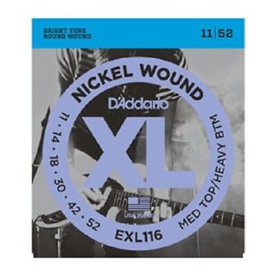 D'Addario EXL116 Nickel Wound, Medium Top/Heavy Bottom, 11-52