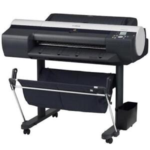 "24"" Canon imagePROGRAF iPF6100 6100 Large Format Graphic Arts Printer Printing Shop Copy Machine REPOSSESSED LIKE NEW"