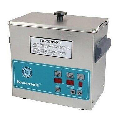 Crest Powersonic Ultrasonic Cleaner 0.75 Gallon Digital Timer Heat Pc Basket