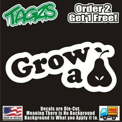 Grow A Pair Pear Funny DieCut Vinyl Window Decal Sticker Car Truck SUV JDM