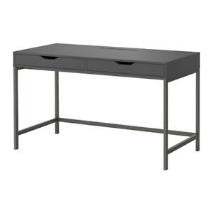 IKEA ALEX DESK GRAY EXCELLENT CONDITION + BUILT-IN CABLE MANAGE