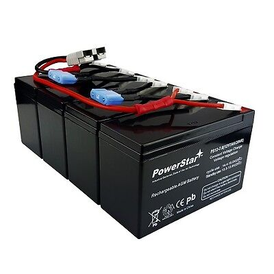 RBC25 UPS Complete Replacement Battery Kit for SU1400RMXLB3U APC UPS (3u Ups Replacement Battery)