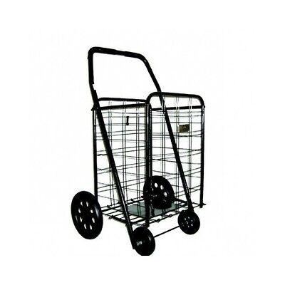 Extra Large Shopping Cart Folding Heavy Duty Grocery Laundry Utility Basket New