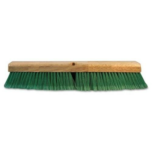 "Boardwalk Push Broom Head, 3"" Green Flagged Recycled PET Plastic, 24"" (BWK20724)"