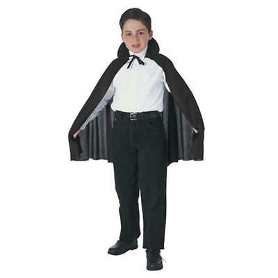 Black Cape With Collar - Child Size