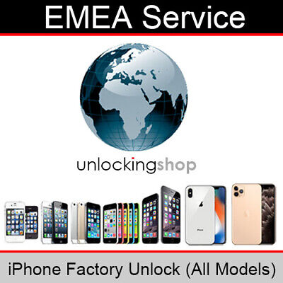 EMEA Service iPhone Factory Unlocking Service (All Models Supported)
