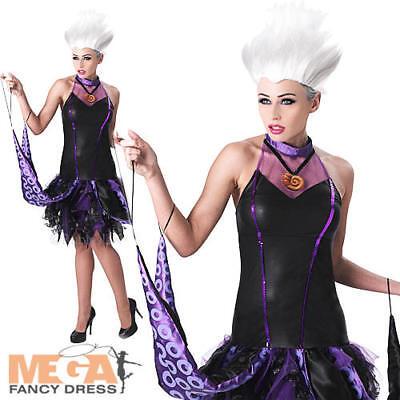Ursula Ladies Fancy Dress Disney Little Mermaid Womens Villian Halloween Costume (Disney Ursula Halloween Costume)