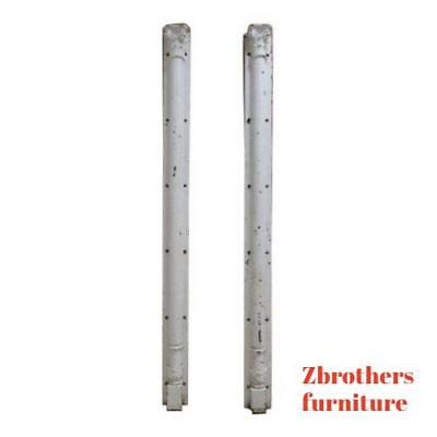 Pair Antique Victorian Cast Iron Corinthian Fluted Column Architectural Salvage