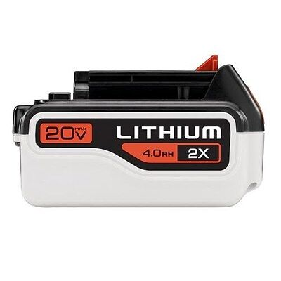 Black & Decker 4.0 Ah Lithium Battery Pack, All 20-Volt Max System Tools
