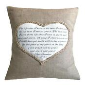 Handmade Personalised Cushion