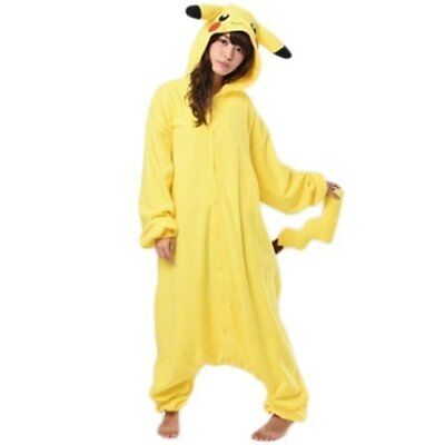Pokemon Pikachu Fleece Kigurumi Cosplay Kostüm Einheitsgröße Sazac aus Japan F S ()