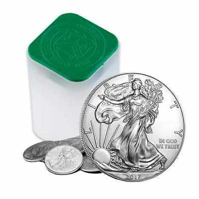 2017 1 Oz Silver American Eagle Coins (Lot, Roll, Tube Of 20)