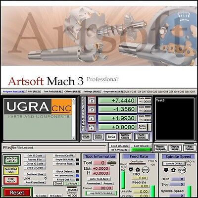 Mach3 Cnc Software For Cnc Router Mill Lathe - Personalized License