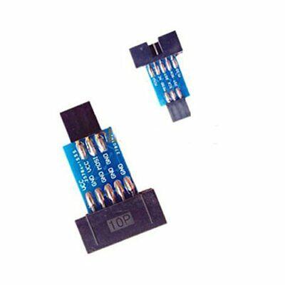 2pcs 10 Pin Convert To Standard 6 Pin Adapter Board F Atmel Avrisp Usbasp Stk500