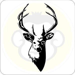 Hirsch Aufkleber Wild Wald Forst Tattoo Jagd Sticker